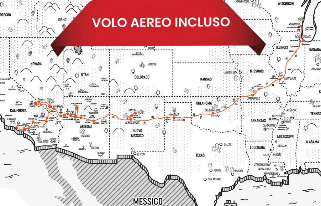 """<a href=""""https://www.americainmoto.it/i-nostri-viaggi/viaggi-be-twin/la-mitica-route-66-reverse"""" target=""""_blank"""" rel=""""noopener noreferrer"""">Viaggio Be-Twin® Di Gruppo Esclusivo Kanaloa Fly&Ride®</a>"""